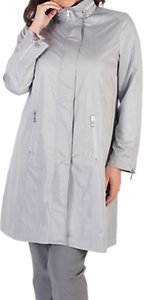 Read more about Chesca ruched collar zip raincoat grey