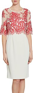 Read more about Gina bacconi embroidered net bodice dress red