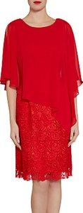 Read more about Gina bacconi lace dress and chiffon cape