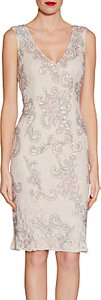Read more about Gina bacconi beaded lace dress nude