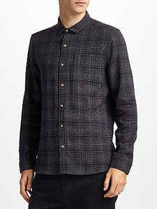Read more about Kin by john lewis brushed ombre check shirt navy