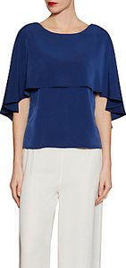 Read more about Gina bacconi soho crepe cape detail top