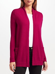 Read more about John lewis extra fine cashmere cardigan berry