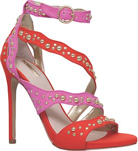 Read more about Carvela gladly multi strap stiletto sandals red comb