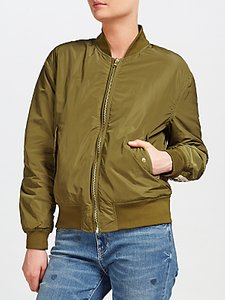 Read more about Maison scotch embroidered bomber jacket green