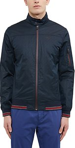 Read more about Ted baker golf squares shower-resistant geo print bomber jacket navy