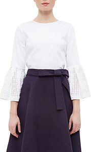 Read more about Ted baker gailee gingham bell sleeve top white