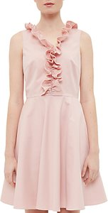 Read more about Ted baker emalia ruffled v-neck skater dress dusky pink