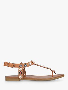 Read more about Carvela kankan studded t-bar sandals tan