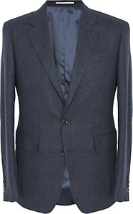 Read more about Thomas pink bray wool cashmere blazer navy