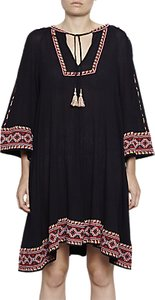 Read more about French connection adanna crinkle embroidered smock dress utility blue multi