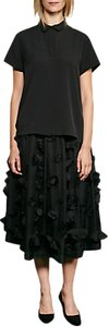 Read more about French connection agnes floral applique midi skirt black
