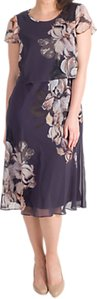 Read more about Chesca floral print layered chiffon dress hyacinth