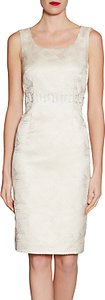 Read more about Gina bacconi metallic jacquard beaded dress ivory