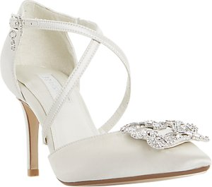 Read more about Dune bridal collection deeana cross strap court shoes ivory