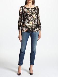 Read more about Velvet by graham spencer vivien floral print top black floral