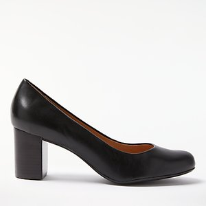 Read more about John lewis anita block heeled court shoes black leather