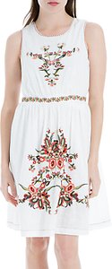 Read more about Max studio sleeveless embroidered dress white