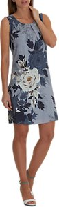 Read more about Betty barclay garden print dress multi dusk blue black