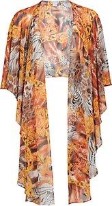 Read more about Gina bacconi abstract printed chiffon shawl gold