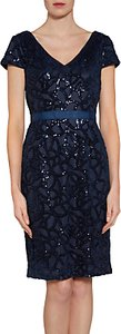 Read more about Gina bacconi sequin net dress spring navy
