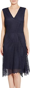 Read more about Gina bacconi doily chemical lace dress spring navy