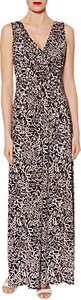 Read more about Gina bacconi floral print jersey maxi dress black pink