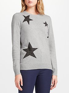 Read more about Collection weekend by john lewis falling star intarsia jumper grey