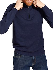 Read more about Joules hillside zip jumper french navy
