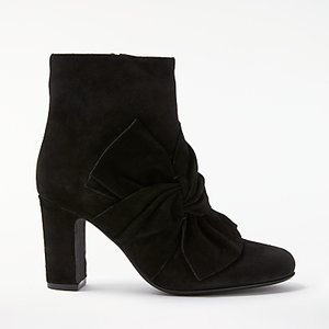 Read more about John lewis odilia block heeled ankle boots black suede