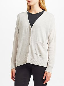 Read more about Kin by john lewis reverse seam cardigan grey
