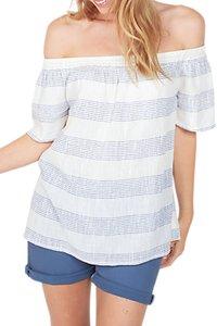 Read more about Fat face ellen stripe blouse white