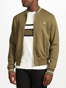 Read more about Fred perry bomber neck sweatshirt jacket iris leaf