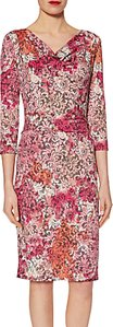 Read more about Gina bacconi lace effect print jersey dress peach pink