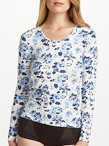 Read more about John lewis heat generating long sleeved floral top rose print