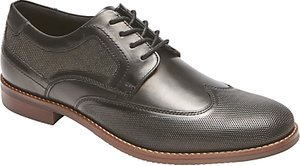 Read more about Rockport style purpose perforated wingtip shoes black