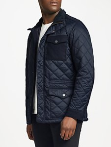 Read more about Barbour land rover defender anmer quilted mid-length jacket navy