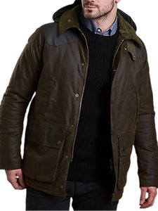 Read more about Barbour land rover defender hales waxed jacket olive