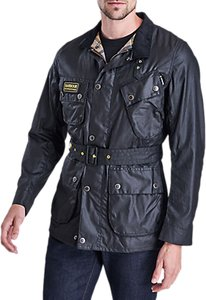 Read more about Barbour international slim waxed cotton jacket black