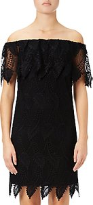 Read more about Adrianna papell off shoulder lace shift dress black