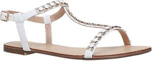 Read more about Carvela blaze t-bar embellished sandals white