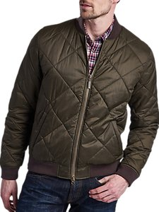 Read more about Barbour international steve mcqueen bomber quilted jacket green
