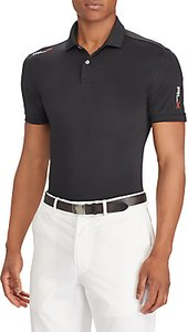 Read more about Polo golf by ralph lauren short sleeve lightweight airflow polo shirt polo black