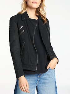 Read more about And or leather biker jacket black