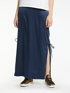 Read more about And or satin maxi tube skirt navy