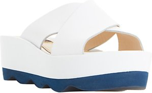 Read more about Dune black langstan cross strap flatform sandals white