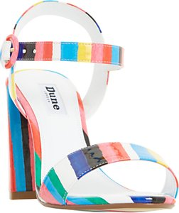 Read more about Dune marraca rio stripe block heeled sandals multi