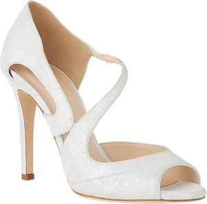 Read more about L k bennett valentina stiletto heeled sandals white silver