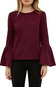 Read more about Ted baker lolar frilled bell sleeve blouse maroon