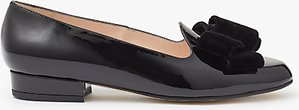 Read more about John lewis holly velvet bow ballet shoes black patent leather